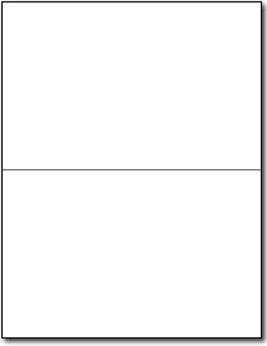 80lb White Half Fold Greeting Cards - 100 Cards - Desktop Publishing Supplies, Inc. Brand