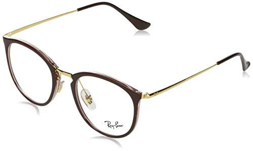 Ray-Ban Rx7140 Gafas, BROWN ON TRANSPARENT BROWN, 49 para Mujer