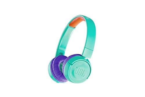 JBL JR300BT Kinder-Kopfhörer - Kabellose Bluetooth On-Ear Kopfhörer mit Lautstärkebegrenzung - Speziell entwickelt für Kinder Türkis