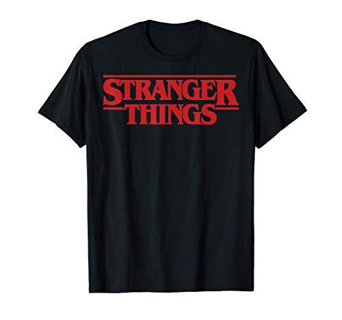 Netflix Stranger Things Simple Red Logo Maglietta
