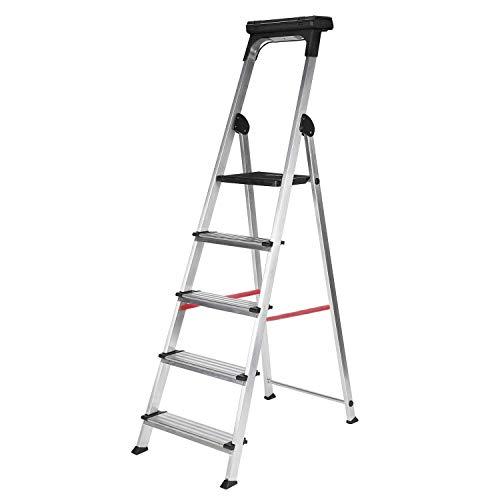 Escalera Ancha de Aluminio ELITE PLUS (5 Peldanos). BTF-TJB405