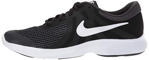 Nike Unisex-Kinder Laufschuh Revolution 4, Schwarz - 13