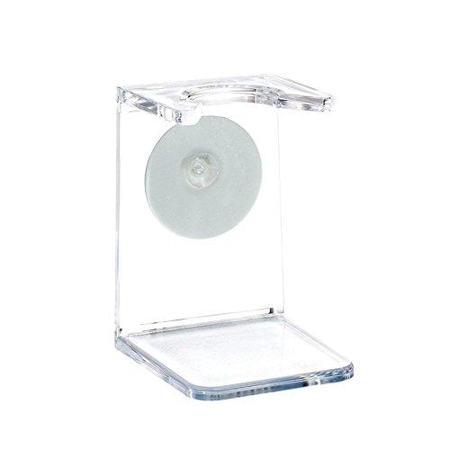 MÜHLE - Halter für Rasierpinsel - Kunststoff transparent - mit Selbstklebepunkt