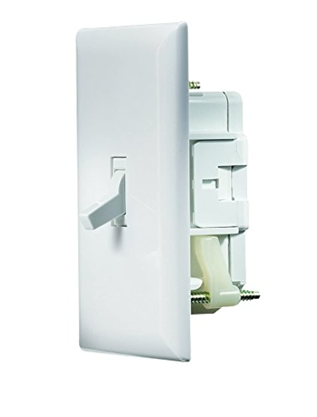 RV Designer S821, Self Contained Wall Switch with Cover Plate, White