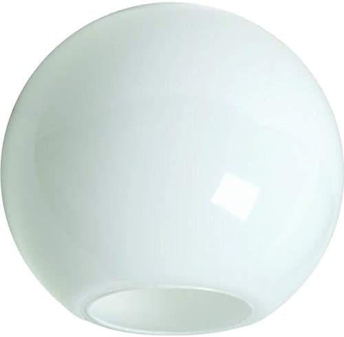 KastLite 18 White Acrylic Lamp Post Globe Smooth Textured with 5 25 Neckless Opening Manufactured product image