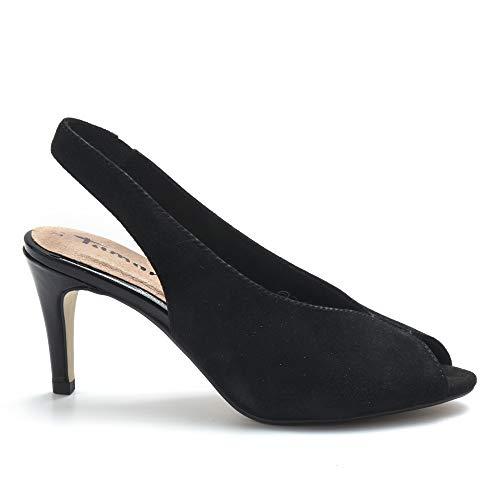 Tamaris sandalen zwart met hoge hak - 29614 32 001 Black - maat