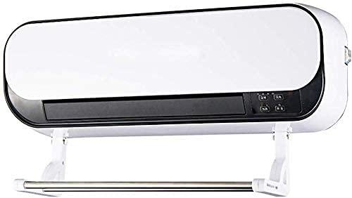 Muebles para el hogar 2000W Aire acondicionado montado en la pared Ventilador Impermeable Baño Cerámica Calentador eléctrico Termostato ajustable Temporizador automático digital Rejilla de secado d