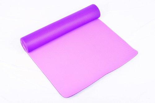 FA Sports Yogiplus Colchoneta de Yoga, Unisex Adult, Púrpura, 173 x 61 x 0,6 cm