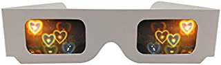 3D Glasses/Virtual Reality Glasses - 5pcs Packs Love Lens Heart Diffraction Prism Fireworks Rave Glasses,Heart Luminescenc...