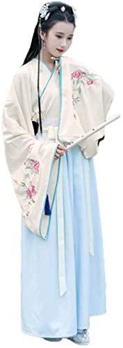 OKZH Hanfu Mujer Vestido Hanfu Tradicional Chino Antiguo Para Mujer, Disfraz De Cuento De Hadas, Disfraz De Princesa, Vestido Elegante Para Halloween, Vestido De Fiesta De Navidad C Grande