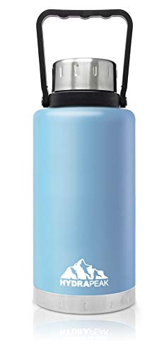 Hydrapeak 50 oz Water Bottle  Vacuum Insulated Tumbler  Double Wall Sports Thermos  BPA-Free Leak-Proof  188 Stainless Hydro Steel Flask -