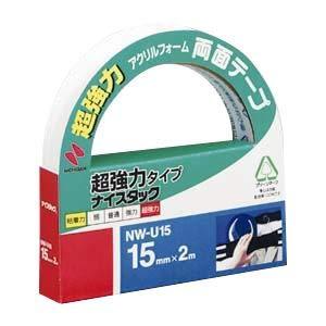 (まとめ) ニチバン ナイスタック(R) 超強力タイプ NW-U15 1巻入 【×5セット】 〈簡易梱包