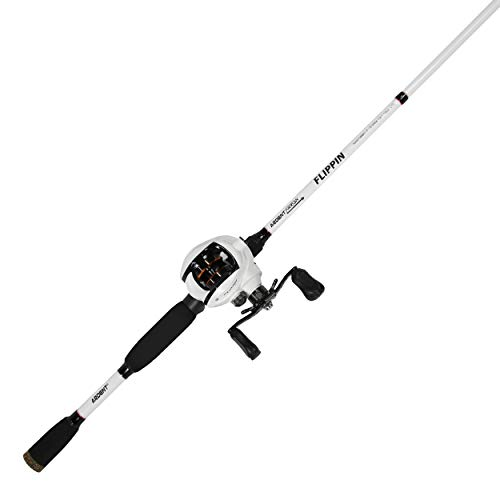 """Ardent Arrow Flipping Fishing Combo, White/Burnt Orane, 6' 6"""", 7.0:1 Gear Ratio, Right Handed (AAW7066H1-F)"""