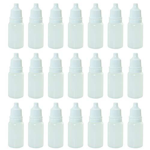 Tegg Eye Liquid Dropper 50PCS 10ml White Empty Plastic Squeezable Dropper Bottles with Caps