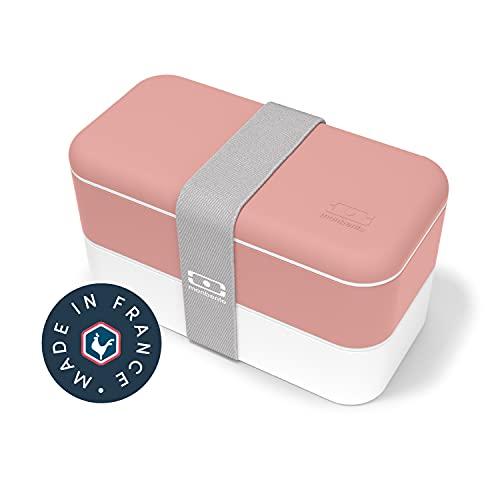 monbento - MB Original bento box rose Flamingo Made in France - Lunch box hermétique 2 étages - Boîte repas idéale pour le travail/école - sans BPA - durable et sûre