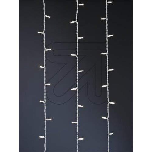 Star 466-58 System LED Curtain-Extra, 102 L Couleur Froid, câble: Blanc ca. 1 m x 2 m, extérieur, connectable, Boite coloré