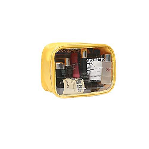 Sac de rangement Trousse de Toilette Portable Grande capacité imperméable Transparent (Color : Yellow)