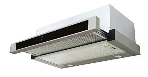 Campana extractora de cocina de 50 cm, tipo aspirante, instalación de pared – Acero
