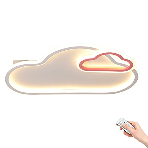 Luz de techo LED forma de nube blanca Lámpara techo habitación niños dibujos animados Luz de Pared dormitorio creativa Regulable mediante mando a distancia Pantalla de acrílico 30W