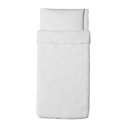 Ikea Dvala Duvet Cover and Pillowcase, White, Twin