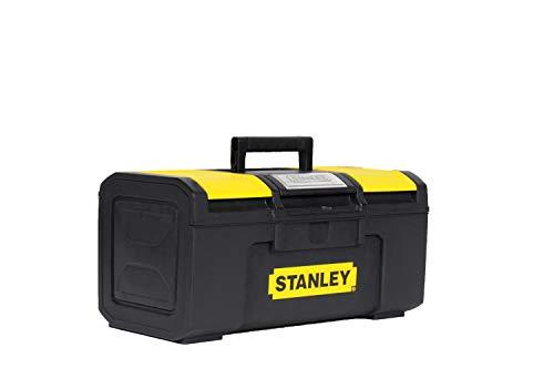 Stanley 1-79-216 Boîte À Outils 40 cm Ouverture 1 main - Structure Robuste - Plateau Porte-Outils mobile - Large Poignée Anti-Dérapante - Vendue Vide