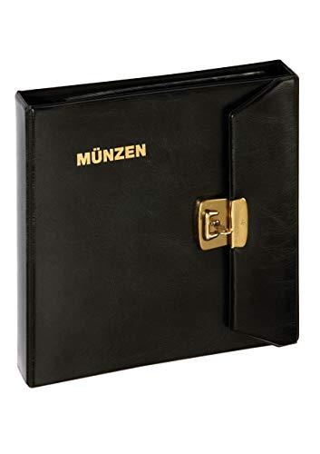 Münzalbum - mit Überschlag und Schloß, Goldprägung, sortiert