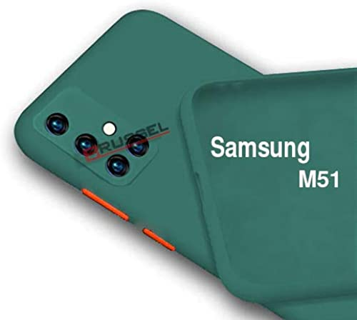 BRUSSEL Samsung M51 Back Cover Case Soft Matt Silicon Cover Shockproof And Camera Protection Case Cover For Samsung Galaxy M51 Green