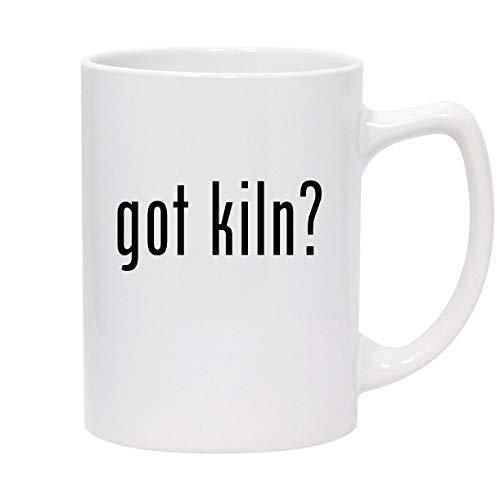 got kiln? - 14oz White Ceramic Statesman Coffee Mug