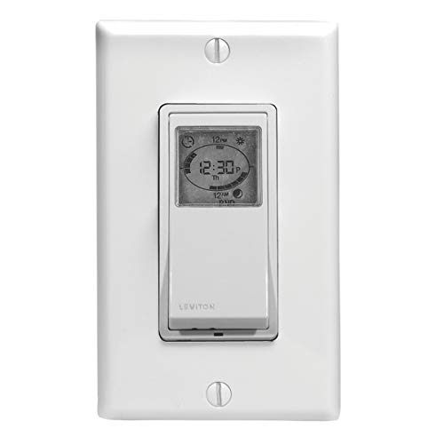 Leviton VPT24-1PZ Vizia 24-Hour Programmable Indoor Timer with...