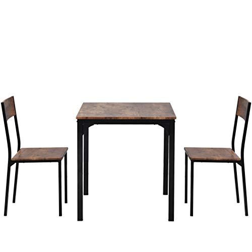 Mesa de comedor y silla de 2 asientos