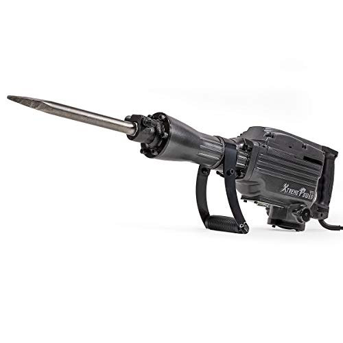 XtremepowerUS Pro-Series 2200W Demolition Electric Jack Hammer Concrete Breaker Power w/Flat Chisel and Point Chisel Bit with Carrying Case