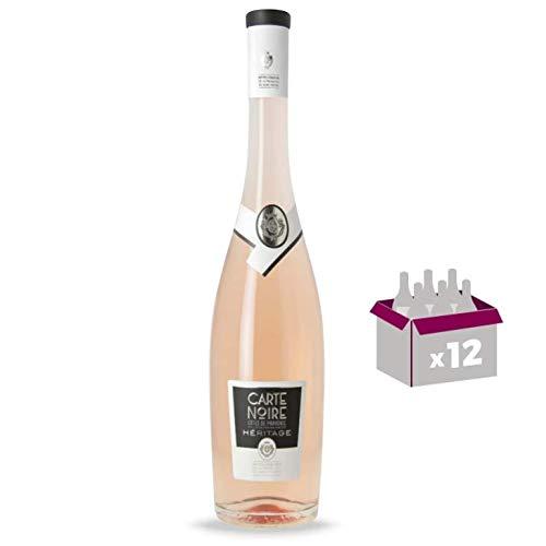 Lot von 12 Flaschen Roséwein in 75cl Maître Vignerons De La Presqu'Île de Saint-Tropez – Héritage Carte Noire – Côtes de Provence Rosé 2019