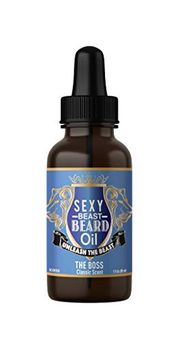 #1 BEST Beard Oil For Men, 9 Oil Blend Stimulates Facial Hair + Beard & Mustache Growth + Repairs Frizzy Hair + Eliminates Dry Itchy Skin For A Thicker Fuller Sexy Beard (BOSS SCENT) Get ONE Now.