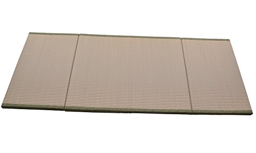 """MustMat Japanese Traditional Tatami Mat/Futon Mattress Firm and Comfortable 35.4""""x78.7""""x1.2"""" Green/Natural Rush Grass/Folds Easily Great for Bed/Meditation Space/Yoga/Zen Room/Japanese Tearoom"""