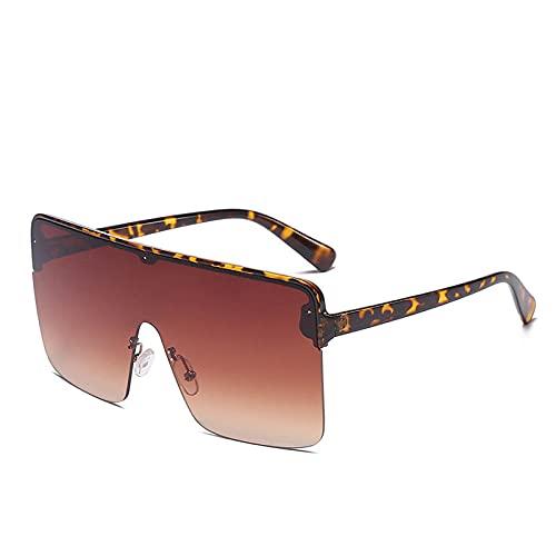 XXBFDT para Ciclismo, para Mujer, Protecci UV404 - Gafas de sol cuadradas transparentes integradas-3