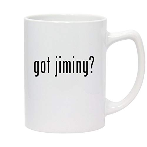 got jiminy? - 14oz White Ceramic Statesman Coffee Mug
