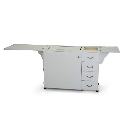 Arrow 98351| Mobiletto Norma Jean per macchina da cucire | 207x 50,8x 77,5cm Colore: bianco
