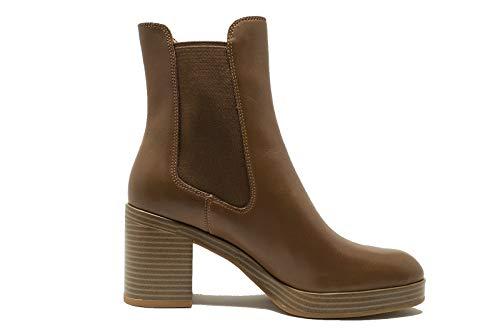 Wat voor dames laarzen Eleganti casual leer bruin met hak. FW18WF512