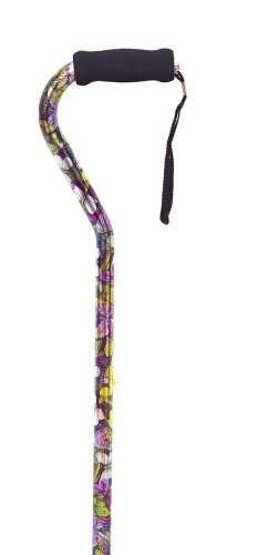Essential Medical Supply Designer Offset Handle Cane in Butterfly