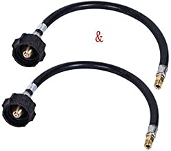 GasSaf 18inch RV Pigtail Propane Hose QCC1 Connector with Acme and a 1/4'' Inverted Male Flare(2 Pack)