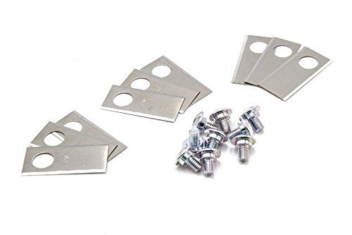 vhbw 9x Messer Klingen passend für Honda Miimo 310, 520, 3000, HRM 310, HRM 520, HRM 3000 Mähroboter - (Edelstahl, 0.75mm) Ersatzmesser Ersatzklingen