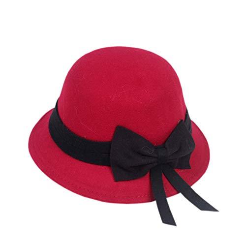 geiqianjiumai Nieuwe strik materiaal voor kinderen grote wastafel hoed wilde wollen hoed