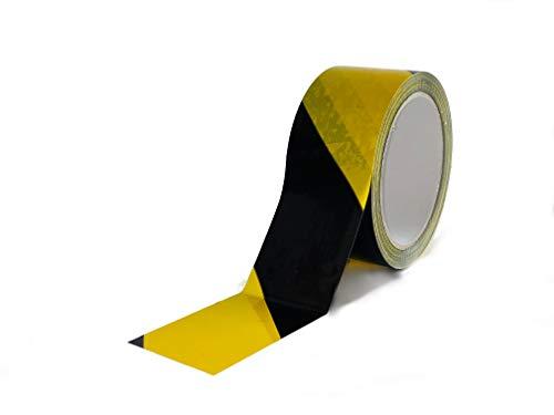 CELLOFIX Cinta adhesiva señalización Amarillo/Negro 48 mm x 132 metros