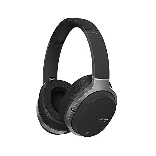 Edifier W830BT Bluetooth Headphones, Over-Ear Wireless Headphone, Stereo Hi-Fi Headset with Mic and Remote for Phones, PC, Tablet, Mac - Black