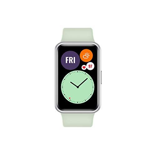 HUAWEI WATCH FIT Smartwatch con Display AMOLED da 1.64 poillici , Animazioni Quick-Workout, Durata della batteria 10 giorni, 96 Modalità di allenamento, GPS integrato, 5ATM, Monitoraggio del sonno