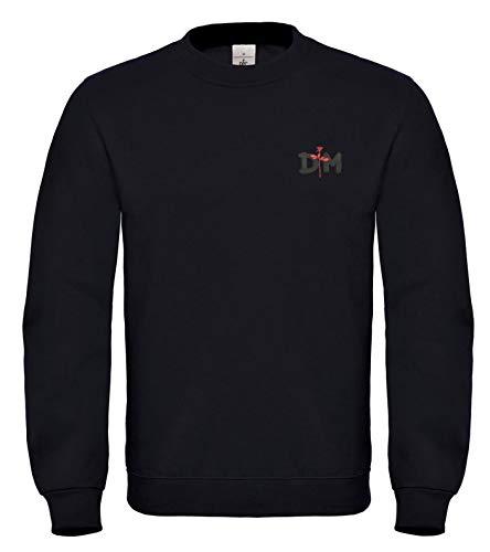 Natshop2000 Depeche Mode Synthie-Pop-Gruppe Bestickte Logo Sweatshirt Premium Qualitet - 6150 (XL)