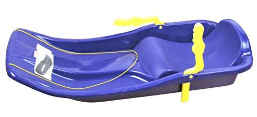 Kinder Kunststoff Schlitten Rodler Bob Schneegleiter Plastikschlitten Race blau