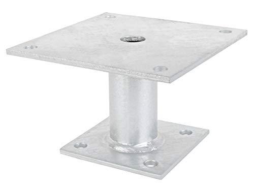 GAH-Alberts 219819 Pfostenträger | zum Aufschrauben | feuerverzinkt | 150 x 150 mm | Rohrlänge 100 mm