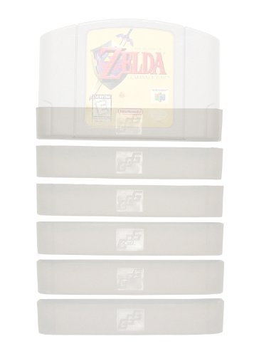 GGG0030 Video Game Cartridge Dust Cover 6 Pack: for Nintendo 64 Games (N64 Cart Protector Sleeve Cover or Case)