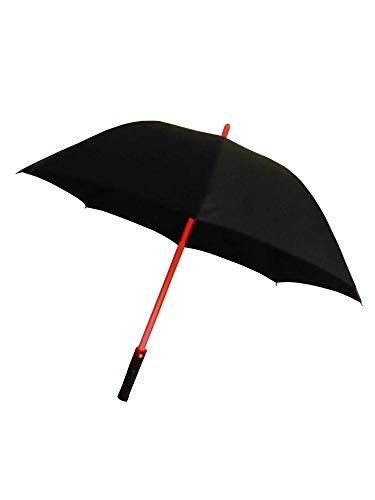grau.zone leuchtender LED Regenschirm Schwarz RGB Farbwechsel Laser-Licht Stockschirm mit Taschenlampe